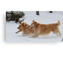 Yahoo! Snow IS FUN! Ozzy & Lotus Canvas Print