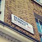 Berwick Street Sign by Matt Canham