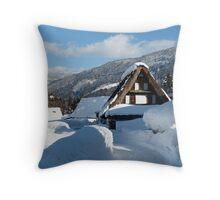 Koinokura Village in Japan Alps Throw Pillow