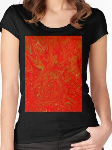 Alert Abstract  Women's Fitted Scoop T-Shirt