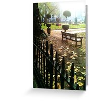 Berkeley Square park bench Greeting Card