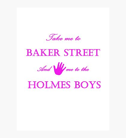 Hand me to the Holmes Boys Photographic Print