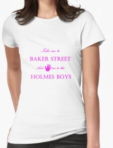 Hand me to the Holmes Boys Womens Fitted T-Shirt