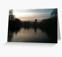 St Jame's Park looking towards Buckingham Palace Greeting Card