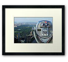 View on Central Park Framed Print