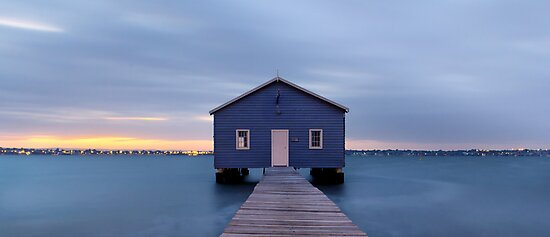 Crawley Boatshed at dawn by Yvonne Jetson