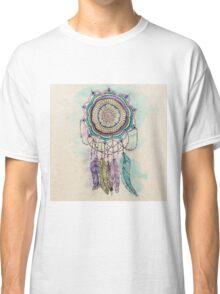 Modern tribal hand paint dreamcatcher mandala design Classic T-Shirt