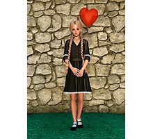 Girl and Heart Photographic Print