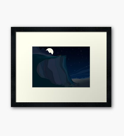 fairy landscape (at night) Framed Print
