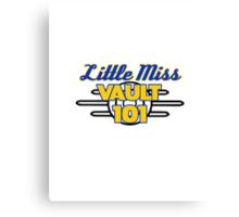 Little Miss Vault 101 Canvas Print