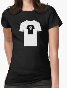 World within black Womens Fitted T-Shirt