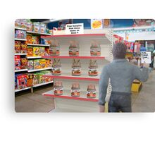 Barry hates when Maggie sends him to the store with a non-specific list! Metal Print