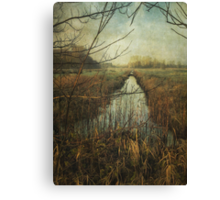 Towards Claxton Marshes Canvas Print