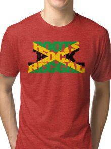 Roots Rock Reggae jamaica Tri-blend T-Shirt