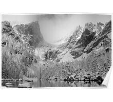 Dream Lake Monochrome Poster
