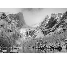 Dream Lake Monochrome Photographic Print