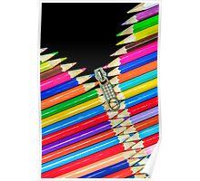 Open Zip Pencils Poster