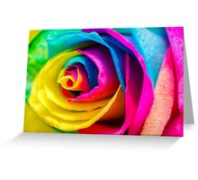 Poetic Colorful Rose Greeting Card