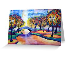 The Colors of Central Park Greeting Card
