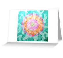 Spills over Sphere Greeting Card
