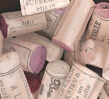 Corks II Print by cathy savels
