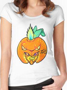 Fruity Hero // Orange Gunner Women's Fitted Scoop T-Shirt