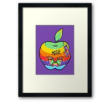 Fruity Hero // Apple Max Framed Print
