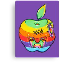 Fruity Hero // Apple Max Canvas Print