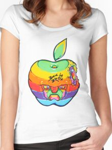 Fruity Hero // Apple Max Women's Fitted Scoop T-Shirt