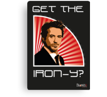 Iron Man Irony Canvas Print