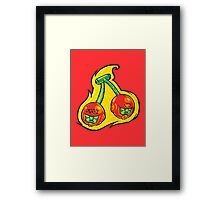 Fruity Hero // Cherry Twin Framed Print