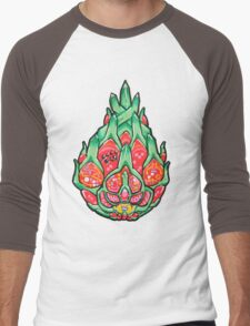 Fruity Hero // Electric Dragonfruit Men's Baseball ¾ T-Shirt