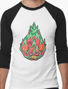 Fruity Hero // Electric Dragonfruit Men's Baseball ¾ T-Shirt