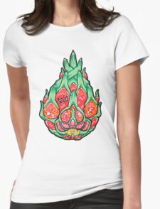 Fruity Hero // Electric Dragonfruit Womens Fitted T-Shirt