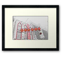 Red Lanterns Framed Print