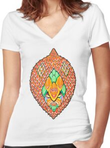 Fruity Hero // Salacca Casablanca Women's Fitted V-Neck T-Shirt