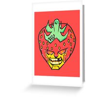 Fruity Hero // Strawberry Default Greeting Card