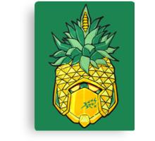 Fruity Hero // Pineapple Robo Canvas Print