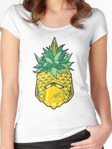 Fruity Hero // Pineapple Robo Women's Fitted Scoop T-Shirt