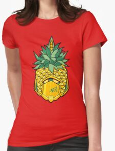 Fruity Hero // Pineapple Robo Womens Fitted T-Shirt