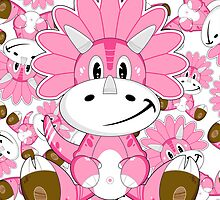 Cartoon Triceratops Dinosaur by MurphyCreative