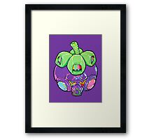 Fruity Hero // Super Mangosteen Framed Print