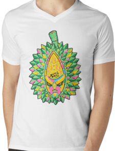Fruity Hero // Durian Major Mens V-Neck T-Shirt