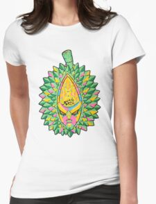 Fruity Hero // Durian Major Womens Fitted T-Shirt