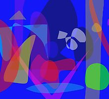 Abstract Painting with Blue Background by masabo