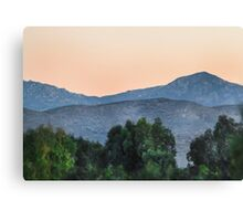 San Diego County Morning Canvas Print