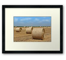 straw bales agriculture industry Framed Print