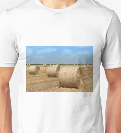 straw bales agriculture industry Unisex T-Shirt
