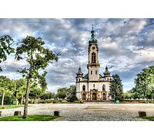 Hockenheim's Protestant Church (Germany) Photographic Print