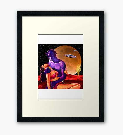Space Love Framed Print